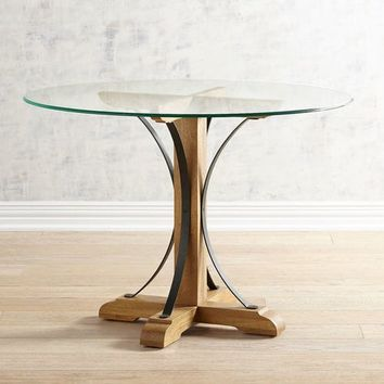Zach Weathered Java Dining Table Base