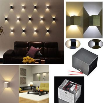 LED square wall home decor sconces