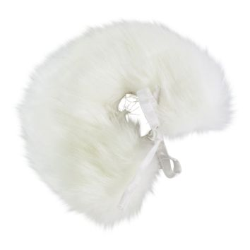 [ PRE ORDER *] ANGELA Doll clothing DOLLY's FUR CAPE ICE BEAR white