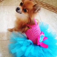 SPRING -- Miami Style DOG TUTU Dress