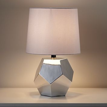 Kids Lighting: Silver Geometric Lamp Base in Table Lamps | The Land of Nod