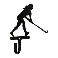 Wrought Iron Field Hockey Decorative Wall Hook Small
