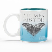 Game of Thrones ''All Men Must Die'' Ceramic Mug (White)