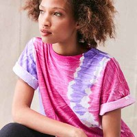 Vintage Tri-Color Tie-Dye Cropped Tee - Urban Outfitters