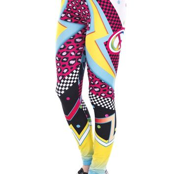 New Lightning Print Ankle Length Leggings
