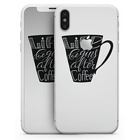 Life Begins After Coffee - iPhone X Skin-Kit