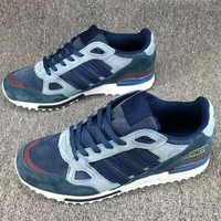 Adidas ZX 750 Casual Fashion Sneakers Running Sports Shoes Blue G-CSXY