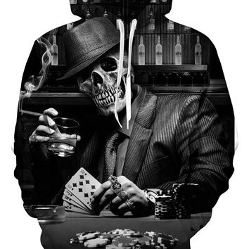 EUR size Hot hoody Cool Popular 3d Skull Hoodies Men Women Unisex Fashion Spring Sportswear Hip Hop Tracksuit Hooded Sweatshirt