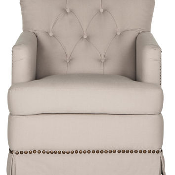 Safavieh Millicent Swivel Accent Chair - Cream/Tan