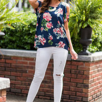 For The Love Of Posh Top, Navy