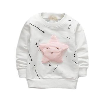 Cotton Kids T-shirts 2017 New Spring Autumn Casual Childre Top Clothing Long Sleeve 1 2 3 4 Year Boys Girls T Shirts