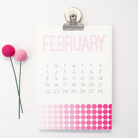 2015 Desk Calendar Monthly Geometric Modern Magnetic Calendar Office Supplies Christmas Gifts Wall Calendar Ombre Pattern Monthly Planner