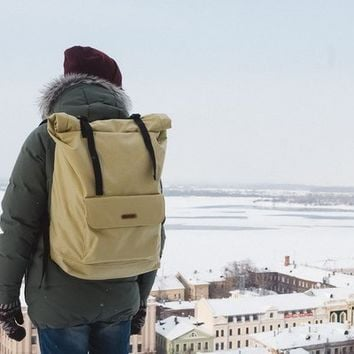 Roll top backpack Big Johnny | Olive by VELOTTON