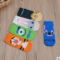 2017 new cartoon female socks cotton cute socks