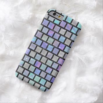 Colorful Faux Shiny Iridescent Glass Tiles Pattern iPhone 6 Case