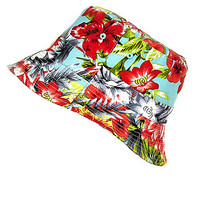 River Island Girls red tropical print bucket hat