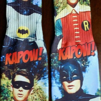 BATMAN AND ROBIN SOCKS
