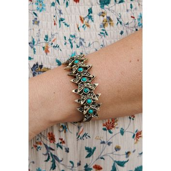 Star Of The Night Adjustable Bracelet (Antique Gold)