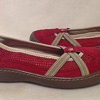 Terrasoles Red Womens Flats Size 9