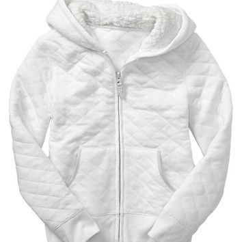 Gap Girls Factory Quilted Zip Hoodie