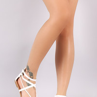 Intertwined Strappy Thong Flat Sandal