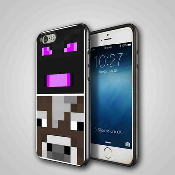 minecraft faces enderman, iPhone 4/4S, 5/5S, 5C Series Hard Plastic Case