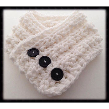 Toddler button up cowl. Small child button up cowl. Crochet toddler cowl.