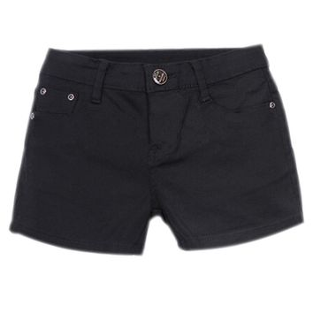 NEW Summer Denim Shorts Slim Fit Candy Color Short Pants Short Jeans Women Shorts Denim black