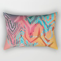 TROPICAL SUNSET Rectangular Pillow by ALLY COXON | Society6