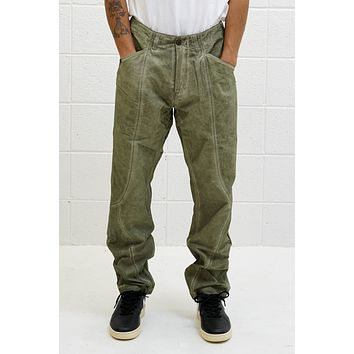 3D Seam Trousers in Olive