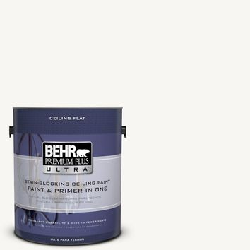 BEHR Premium Plus Ultra 1-Gal. No.UL260-14 Ceiling Tinted to Ultra Pure White Interior Paint-555801 - The Home Depot