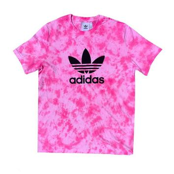 "Adidas x Jeffersons Custom Tonal Tie Dyed T-Shirt ""HOT PINK"""