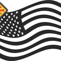 American Flag Sticker Decal 20 Colors To Choose From.