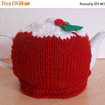 SALE Festive tea cosy, christmas pudding tea cosy, stocking stuffer, stocking filler, christmas gift Christmas in July CIJ