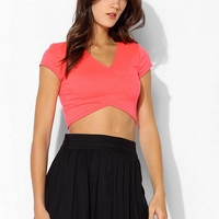 Sparkle & Fade Crossover Top - Urban Outfitters