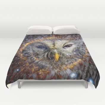 Mystic Owl Duvet Cover by lostanaw