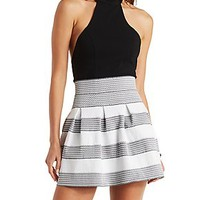 ZIP-UP SKATER SKIRT