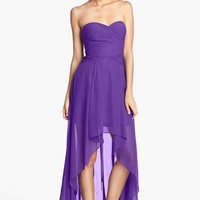 Hailey Logan Ruched Bodice Chiffon High/Low Dress (Juniors) (Online Only) | Nordstrom