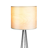BERA Design Floor Lamp - Finnish Birch Veneer Lamp shade - Modern Interior Design - Nature Meets Industrial