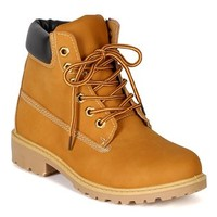 Nature Breeze Terrain Women Leatherette Multi Color Padded Collar Hard Toe Boot