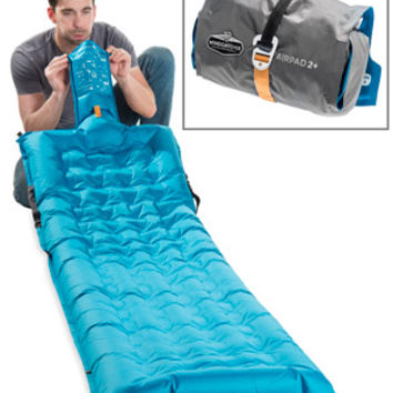 WindCatcher AirPad: Amazing air mattress inflates in seconds without a pump.