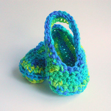 Baby Boy Sandals Infant Girl Summer Booties  Mock Crocs  3 - 6 Months Crochet Children Spring Clothing Bright Green Yellow Blue