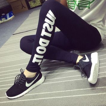 DCCK6HW Nike' Women Sport Casual Letter Print Yoga Leggings Pants Trousers Sweatpants