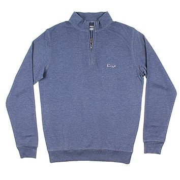 Longshanks Hybrid 1/4 Zip Pullover in Navy by Country Club Prep