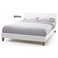 Serene Furnishings Tuscany | Tuscany White Faux Leather Ottoman Bed Frame | Bedsdirectuk.net
