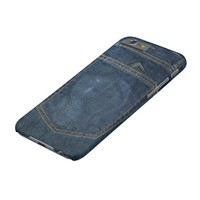 Blue Jeans Denim Pocket Barely There iPhone 6 Case