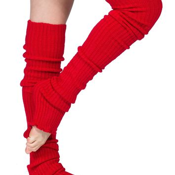 Leg Warmers Thigh High Stretch Knit Ribbed 28 Inch Leg Warmers High Quality KD dance Made In USA