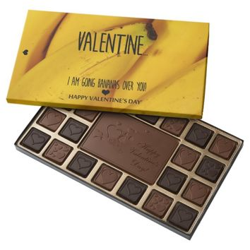 Going bananas over you Valentines Day Assorted Chocolates