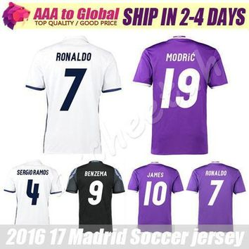 Reals Madrid jersey 2017 Cristiano Ronaldo Soccer jersey MODRIC BALE KROOS ISCO BENZEM