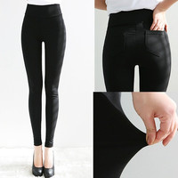 hot women candy color high waist pencil pants legging slim skinny pants lady trousers legging women's fashion high quality = 1958545220